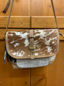 Myra Hair On Cowhide Cross Body Purse