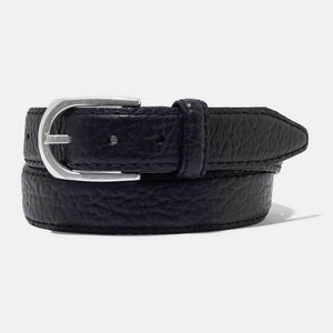 Vintage Bison Men's Black Belt
