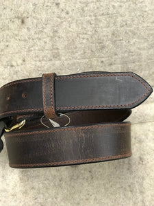Visalia Oiled Brown Leather Belt Made in America