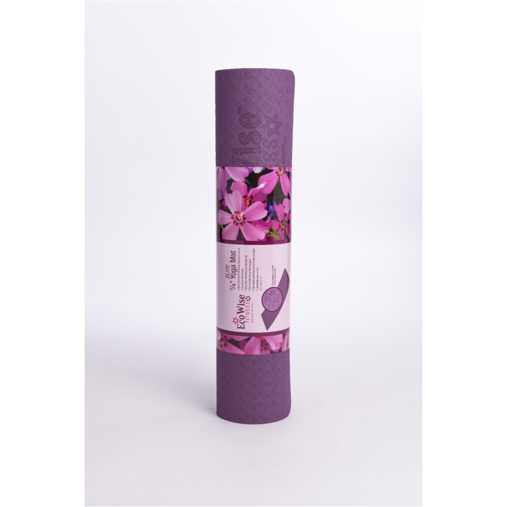 EcoWise Elite Yoga Mat 1/4'' thick