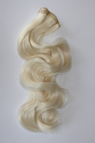 "24 Inch ""Deluxe"" Wefting - Pale Blonde Frost"