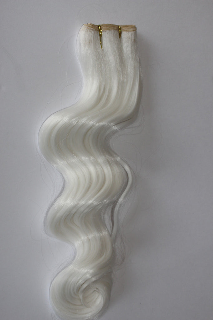 "24 Inch ""Deluxe"" Wefting - Platinum White"