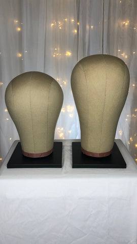 Canvas Wig Blocks