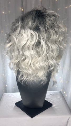 """Sabrina"" - Dark Rooted White Ombre"