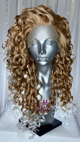 """Whitney"" - 27/Platinum White Ombre"