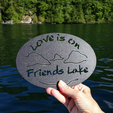 Friends Lake Painted Trivet