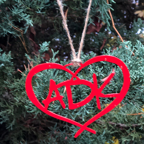 Adirondacks Heart Ornament