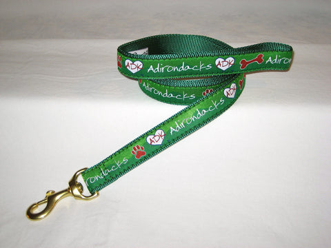 Adirondack Dog Leash, Love is in the Adirondacks with Comfort Handle