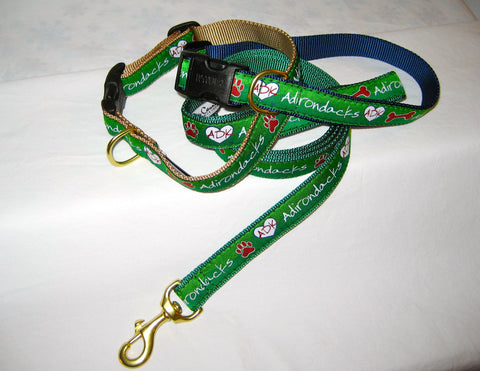 Adirondacks Ribbon Dog Collar
