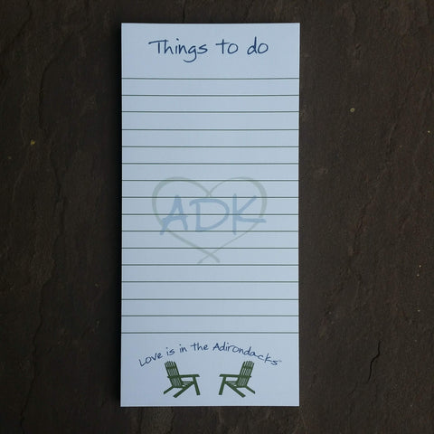 Adirondacks Notepad