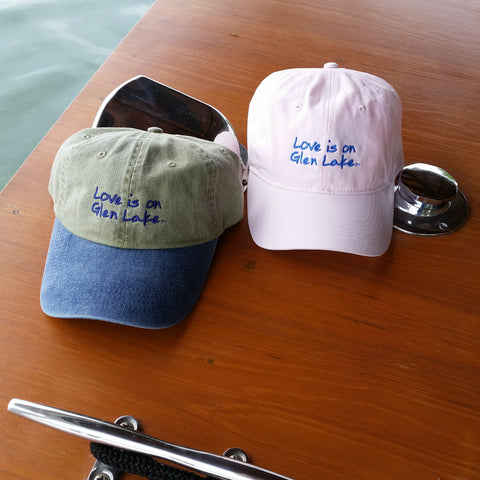 Glen Lake Pink Ball Cap