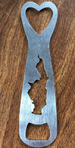 Glen Lake Silhouette Bottle Opener, Hand designed
