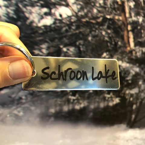 Schroon Lake Key Chain, stainless steel