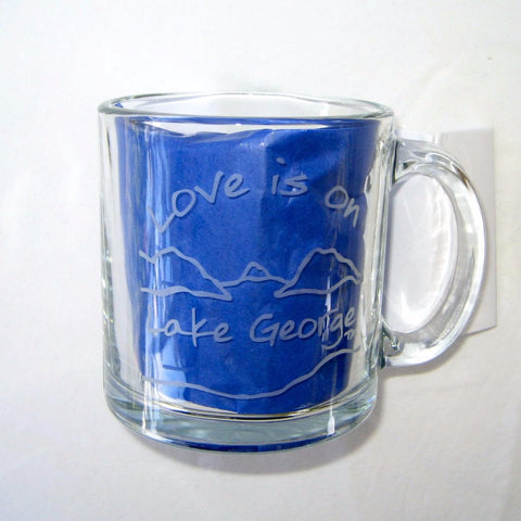 Love is on Lake George Clear Glass Coffee Mug