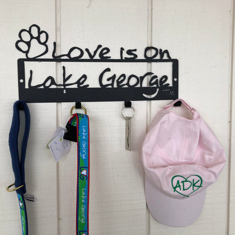 Lake George Paw multi-hook wall mount