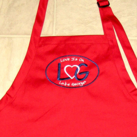 Love is on Lake George Adjustable Bib Apron