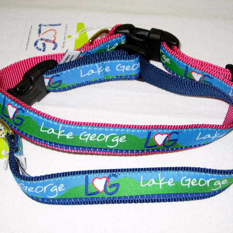 Lake George Ribbon Dog Collar