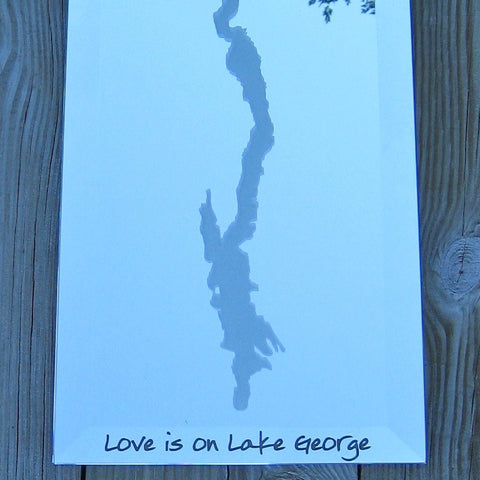 Love is on Lake George Glass Coffee Mugs