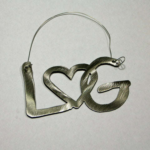 Lake George Stainless Steel Ornament