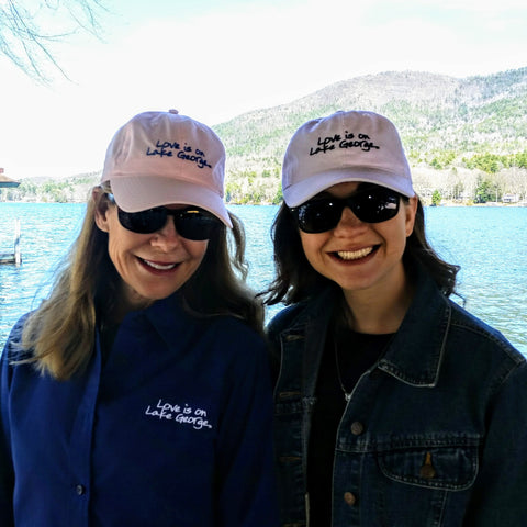 Pink Lake George Ball Cap
