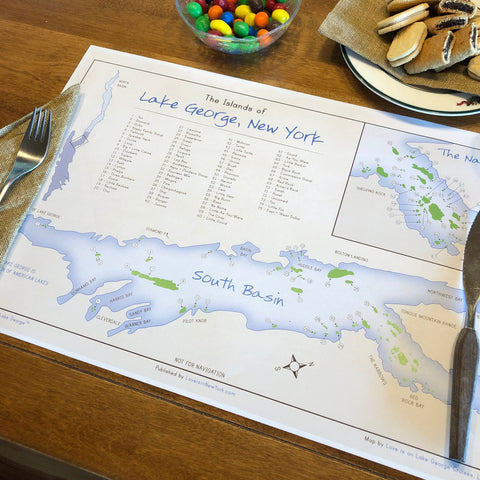 The Islands of Lake George Placemat