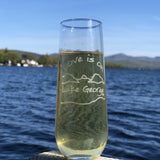 Lake George Stemless Flute Glass