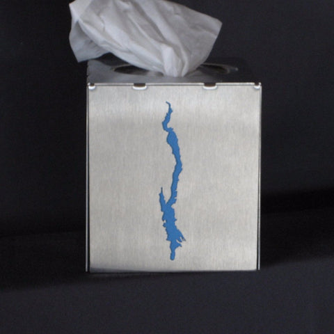 Lake George Stainless Steel Tissue Box Cover