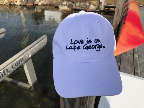 Lake George White Ball Cap