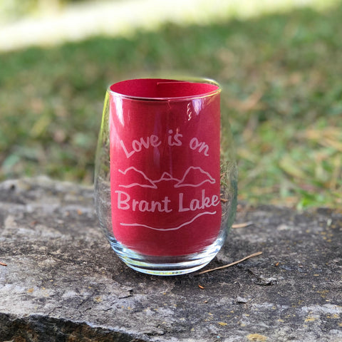 Brant Lake Stemless Wine Glass