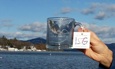 Lake George Clear Glass Coffee Mug