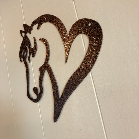 Horse Head & Heart Wall Decor