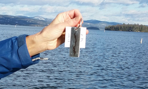 Lake George Key Tag with Ring, stainless steel