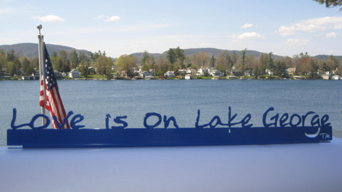 Lake George Painted Shelf-Sitter