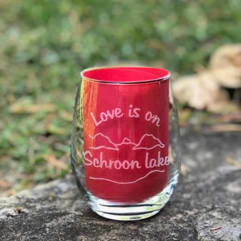 Schroon Lake Stemless Wine Glass