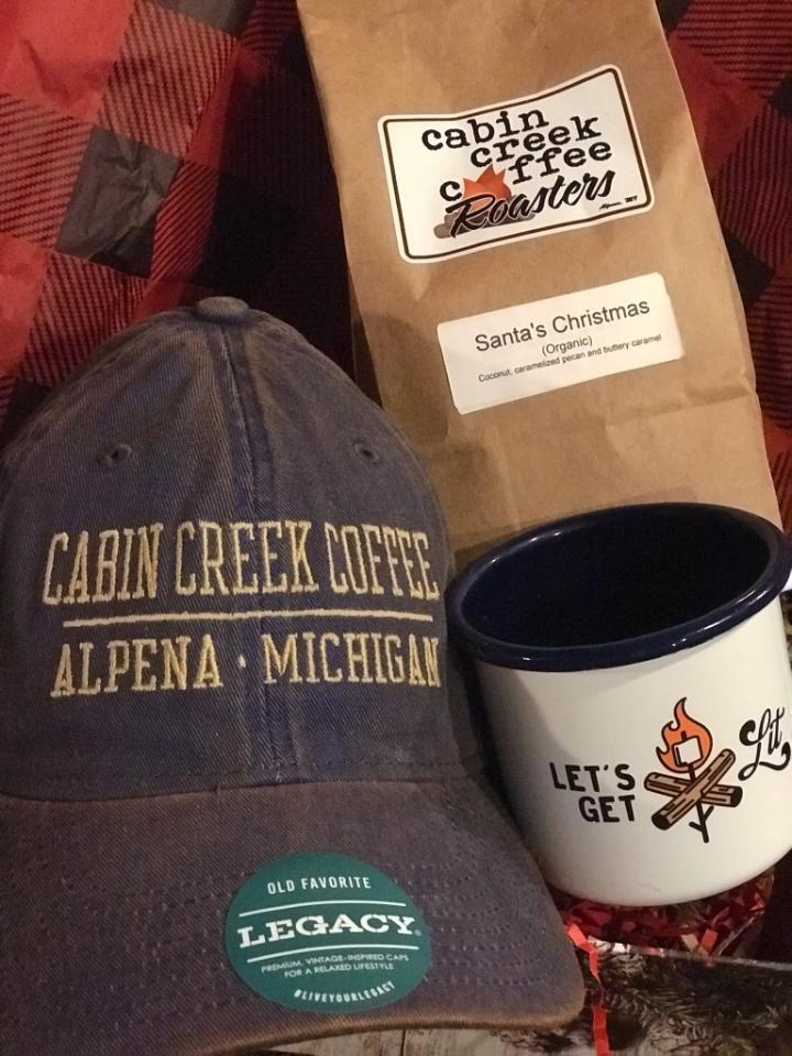 Coffee, Cup, Cap...Calm Gift Basket