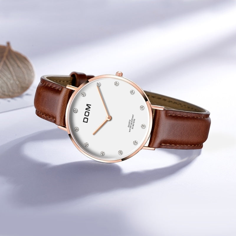 Cecelia Watch Stainless Steel, Leather 32mm