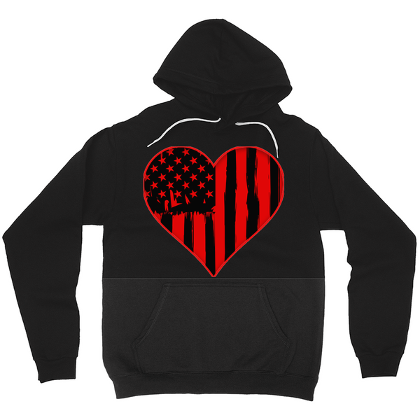 Flag in Heart Hoodie - Mission Market