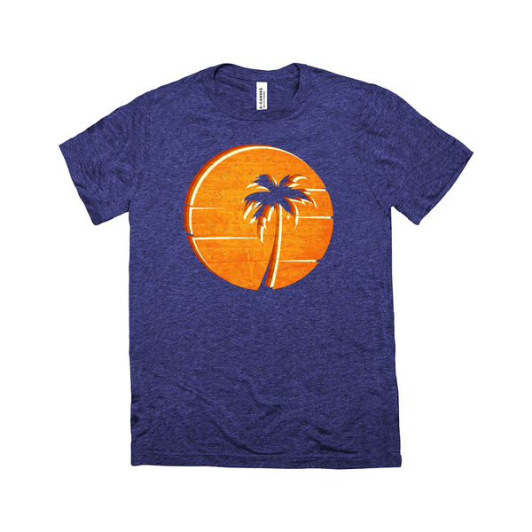 Retro Sun | Men's Triblend Tee