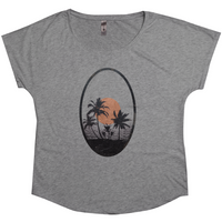 Beach Sunset | Women's Tri-Blend Dolman