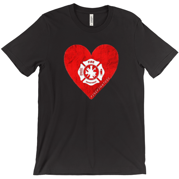 I Heart Firefighters Tee - Mission Market