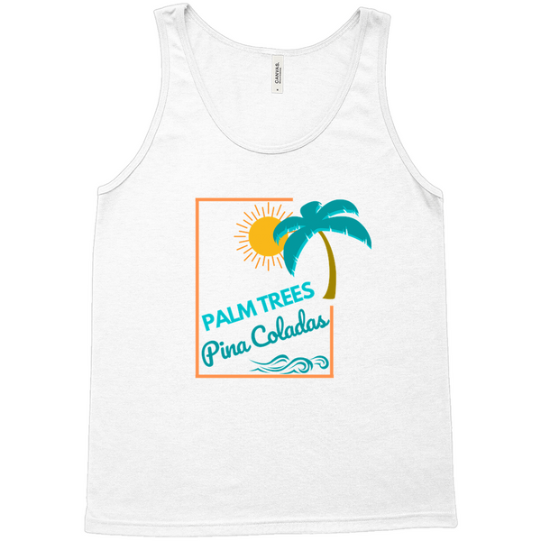 Palm Trees Pina Coladas Tank Top - Mission Market