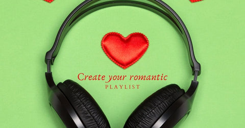 Set the mood with a romantic playlist.