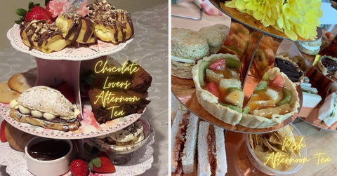Chocolate Lovers Afternoon Tea & Posh Afternoon Tea with prosecco