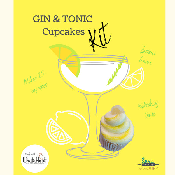 Gin & Tonic Cupcakes Baking Kit