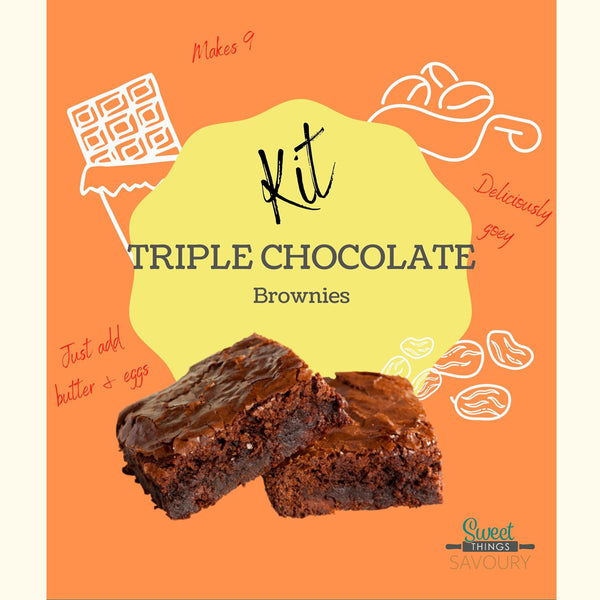Triple Chocolate Brownies Baking Kit