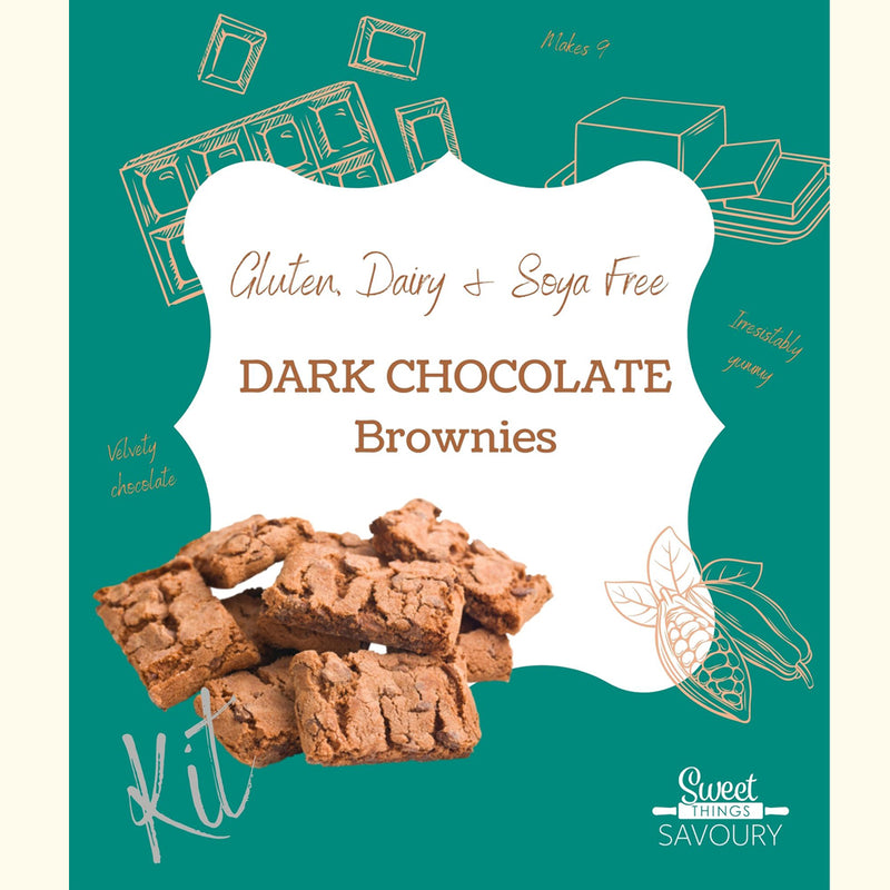 Gluten, Dairy & Soya Free Dark Chocolate Brownies Baking Kit