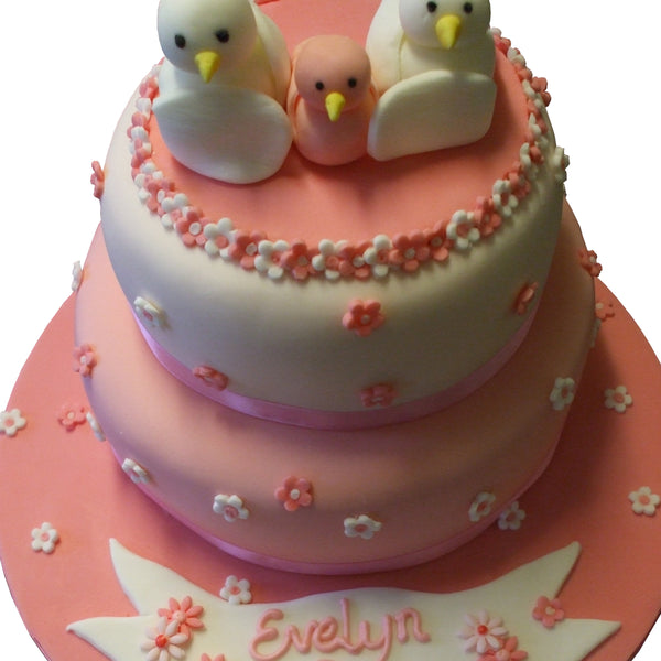 Cute Chicks Christening Cake