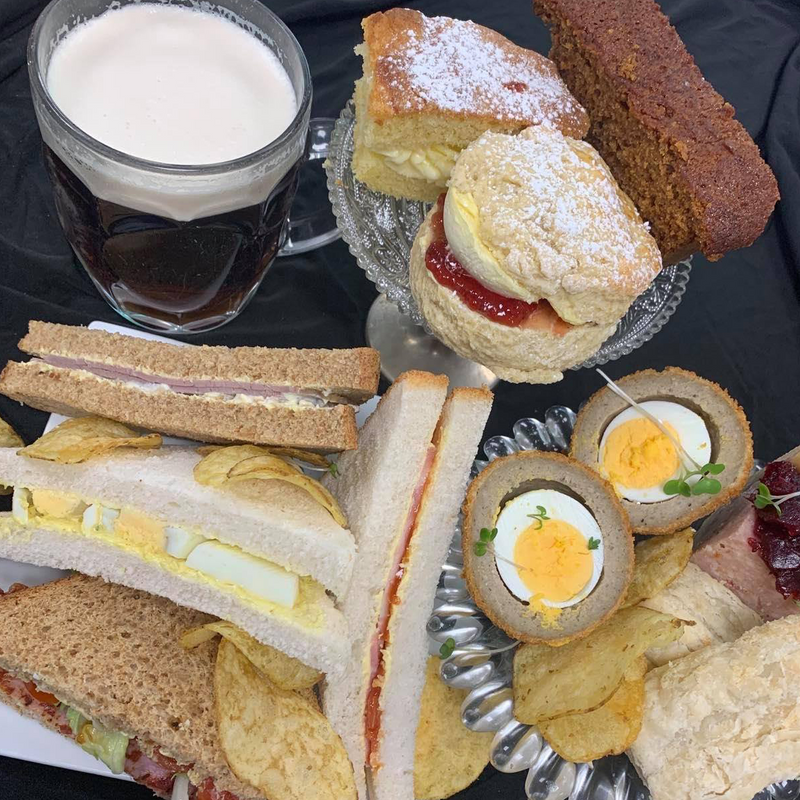 Gentleman's Afternoon Tea for Two (with Birdhouse Brewery Stout)