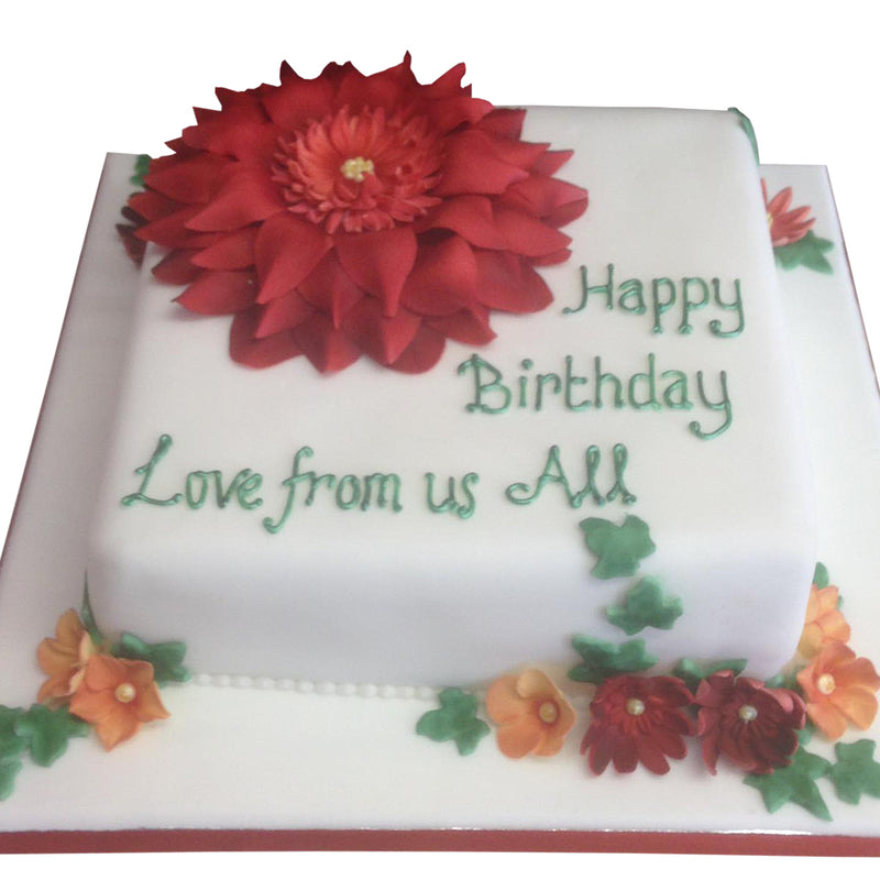 Single Flower Birthday Cake