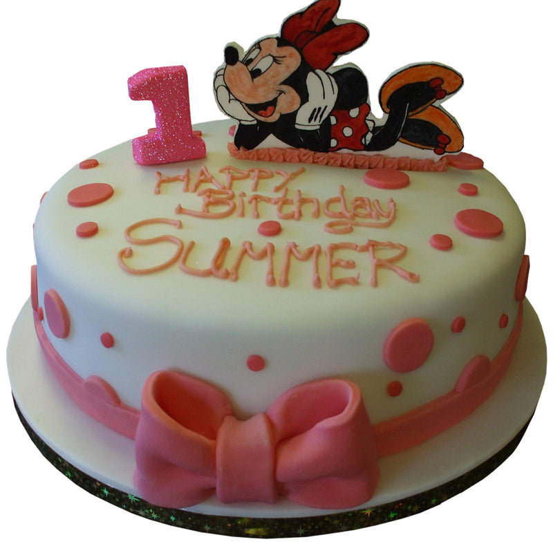 Minnie Mouse Style Birthday Cake